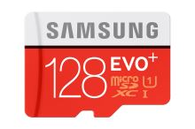 128GB Samsung, micro SDHC, EVO PLUS, + adaptér