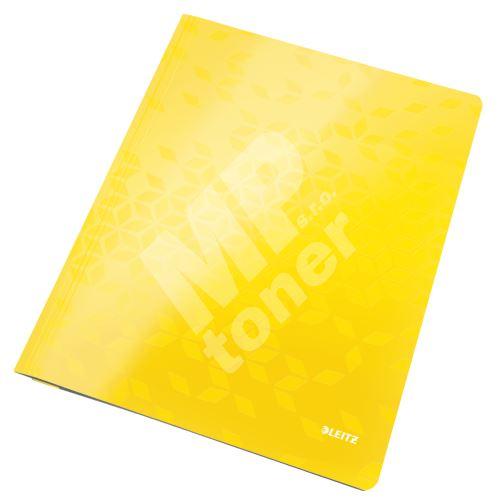 Desky s rychlovazačem Leitz WOW A4, žluté 1