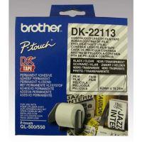 Role filmová Brother DK22113, 62mm x 15.24m, bílá, 1 ks, pro tiskárny štítků 3