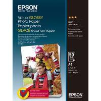 Epson Value Glossy Photo Paper, foto papír, lesklý, bílý, A4, 200 g/m2, 50 ks