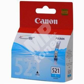 Inkoustová cartridge Canon CLI-521C, modrá, originál