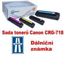 Sada tonerů Canon CRG-718, CMYK, MP print + dálniční známka