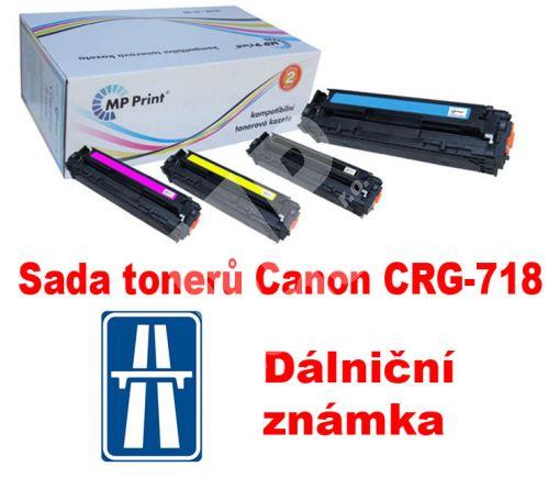 Sada tonerů Canon CRG-718, CMYK, MP print + dálniční známka 1