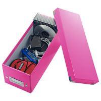 Archivační krabice na CD Leitz Click-N-Store WOW, růžová 3