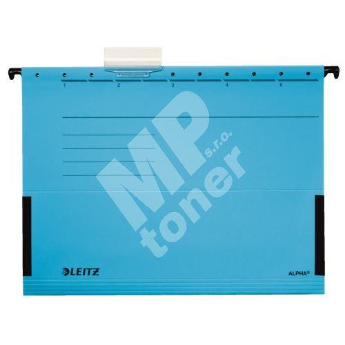 Závěsné desky Leitz ALPHA s bočnicemi, modré 1