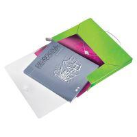 Desky s gumičkou Wow Jumbo, zelená, 30 mm, PP, A4, LEITZ 10