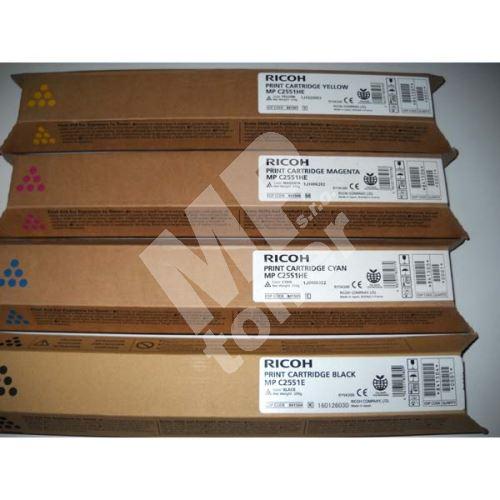 Toner Ricoh MPC2551, magenta, 841506, originál 1