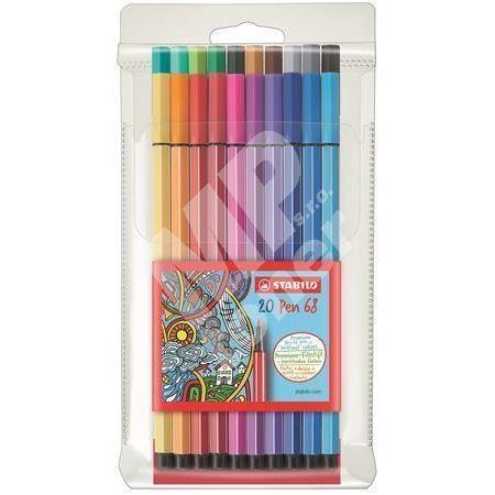 Fixy Pen 68, 20 barev, 1mm, STABILO 1