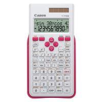 Kalkulačka Canon F-715SG, bílá, školní, dvanáctimístná, s růžovým krytem