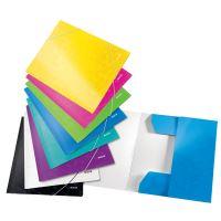 Tříchlopňové desky Leitz WOW A4, modré 4