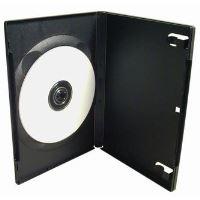 Obal na 1 ks DVD, černý, 14mm, 100-pack