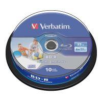 25GB Verbatim BD-R SL, Hard Coat protective layer, Spindle, 43804, 6x, 10-pack