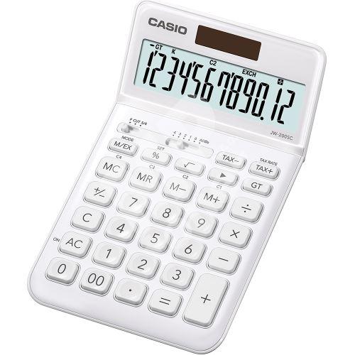 Kalkulačka Casio JW 200SC WE, bílá