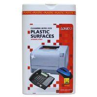 Čisticí trhací ubrousky na plasty, dóza, 50ks, L