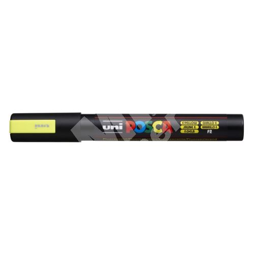 Uni Posca PC-5M akrylový popisovač, 2,5 mm, fluo-žlutý 1