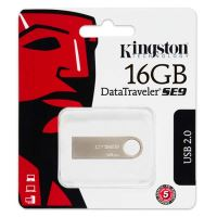 16GB Kingston DataTraveler SE9, USB flash disk 2.0, stříbrná