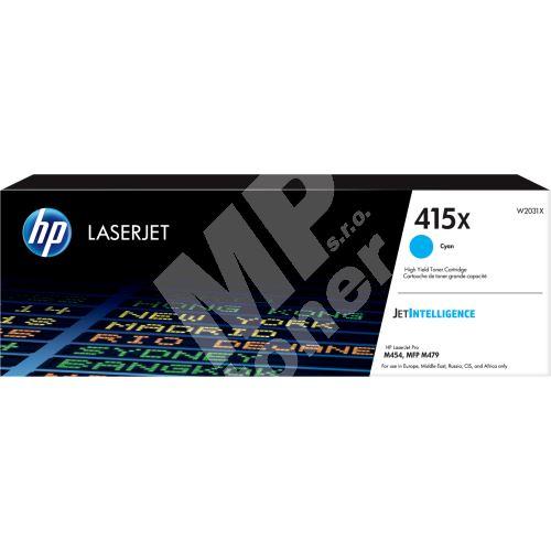 Toner HP W2031X, cyan, 415X, originál 1