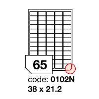 Samolepící etikety Rayfilm Office 38x21,2 mm 100 archů R0100.0102NA