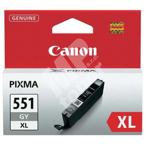 Cartridge Canon CLI-551GY XL, grey, 6447B001, originál 1