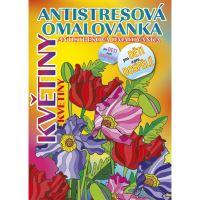 Antistresová omalovánka A5, Květiny