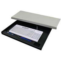 Držák klávesnice, pod desku stolu, černý, LOGO