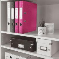 Pákový pořadač 180 Wow, růžová, 52 mm, A4, PP/karton, LEITZ 3