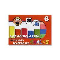 Barevné školní křídy 6 barev
