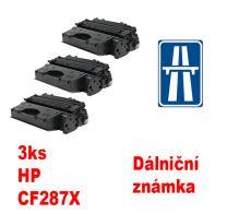 3ks kompatibilní toner HP CF287X MP print + dálniční známka