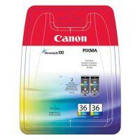 Inkoustová cartridge Canon CLI-36, Pixma iP100, color, 2pack, 1511B018, originál