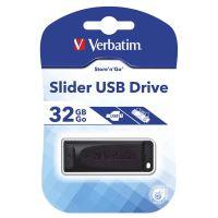 32GB Verbatim Slider, USB flash disk 2.0, 98697, černá