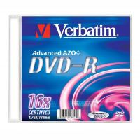Verbatim DVD-R, DataLife PLUS, 4,7 GB, Matte Silver, slim box, 43547, 16x, 20-pack