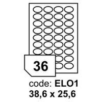Samolepící etikety Rayfilm Office 38,6x25,6 mm 10 archů, inkjet, R0115.EL01F