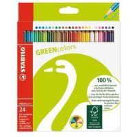 Barevné pastelky STABILO GreenColours, 24ks, šestihranné
