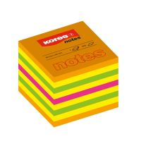 Samolepící bloček Kores Cubo Summer Neon 50x50mm 400 listů