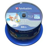 Verbatim 25GB BD-R SL, Hard Coat Wide Inkjet Printable, spindle, 43812, 6x, 50-pack 2