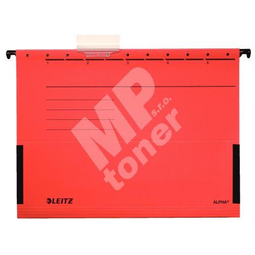 Závěsné desky Leitz ALPHA s bočnicemi, červené 1