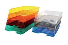 Box na papír Chemoplast průhledný, červený 1