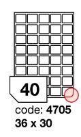 Samolepící etikety Rayfilm Office 36x30 mm 300 archů, inkjet, R0105.4705D