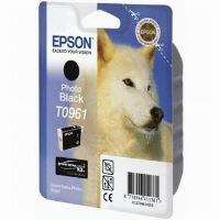 Inkoustová cartridge Epson C13T09614010, Stylus Photo R2880, foto černá, originál