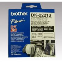 Papírová role Brother DK22210, 29mm x 30.48m, bílá, 1 ks