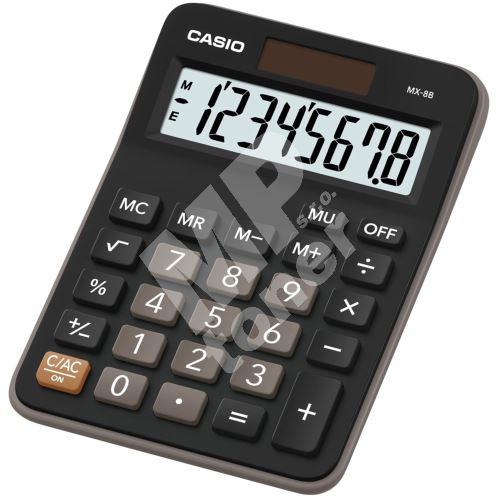 Kalkulačka Casio MX 8 B BK 1