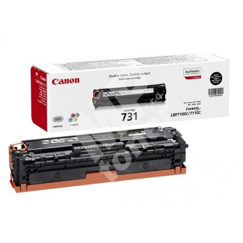 Toner Canon CRG-731BK, black, originál 1