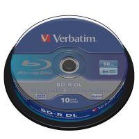 50GB Verbatim BD-R DL, cake box, 43746, 6x, 10-pack