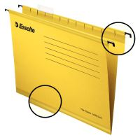 Závěsná registrační karta Esselte Pendaflex A4, žlutá, 1bal/25ks