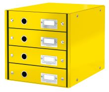 Zásuvkový box Click & Store, žlutá, 4 zásuvky, laminovaný karton, LEITZ 2