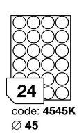 Samolepící etikety Rayfilm Office průměr 45 mm 300 archů, inkjet, R0105.4545KD