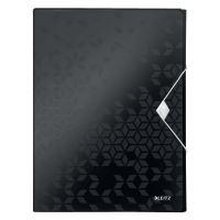 Desky s gumičkou Wow Jumbo, černá, 30 mm, PP, A4, LEITZ 11