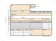 Příjmový doklad A6, samopropisovací, číslovaný, 2 x 50 listů, OP1081