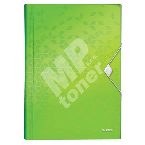 Aktovka s přihrádkami Leitz WOW, PP, zelená 1