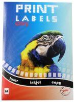 Print etikety Emy 70x36 mm, 24ks/arch, 100 archů, samolepící